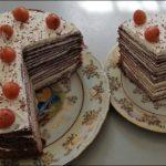 Очень вкусный блинный шоколадный торт